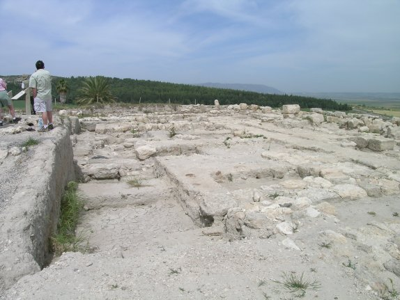 Remains of the northern palace at Megiddo