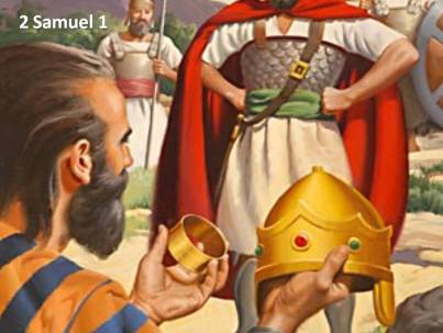 The Amalekite's version of Saul's death contradicts the biblical narrator's version.