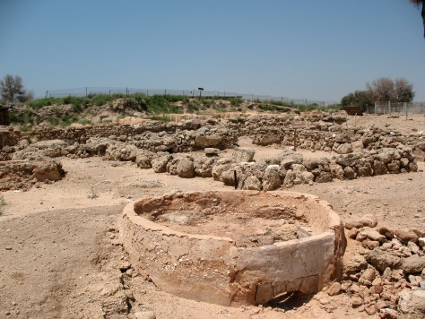 Buildings and streets at Tel-Qasile, an ancient Philistine city