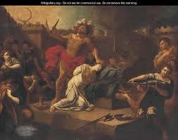 Jephthah sacrifices his daughter