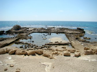 Herod's swimming pool at the backside of his palace in Caesarea