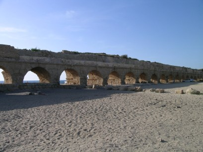 Just outside of Caesarea are the remants of the ancient aqueduct that Herod built to supply the city with water. The aqueduct stretched 13 miles from Mount Carmel to Caesarea.