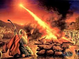 Elijah calls down fire from heaven