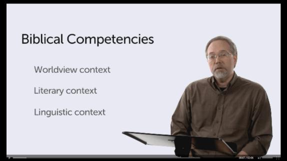 "Logos Mobile Ed course, ""Introduction to Biblical Interpretation."""