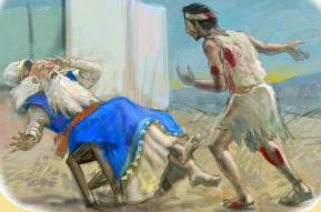 God disposes of the leaders Eli and Saul in similar ways.