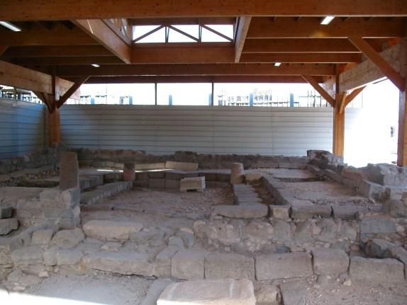 The synagogue at Magdala: frontal view