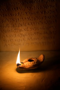 "The biblical name, Abner, means, ""My father is a lamp."" The photo above is an example of an ancient Hebrew lamp."