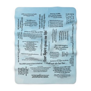 Healing Scriptures Blanket - Blue Clouds