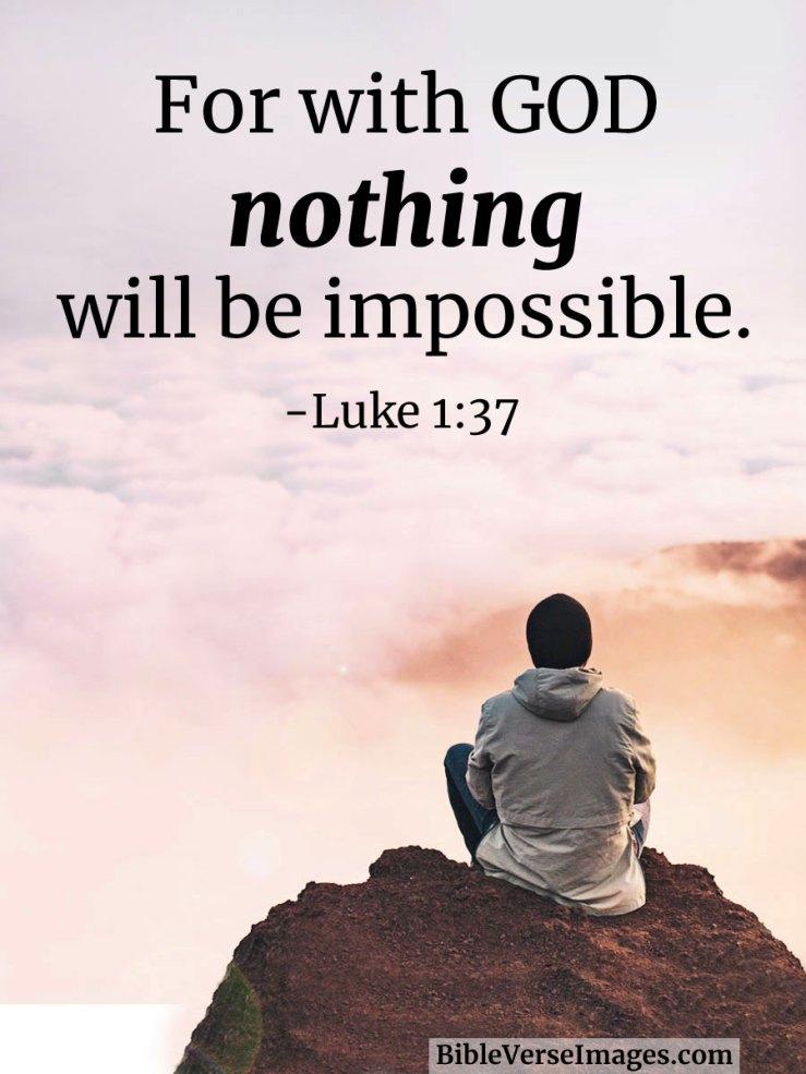 Luke 1:37- Bible Quote - Bible Verse Images