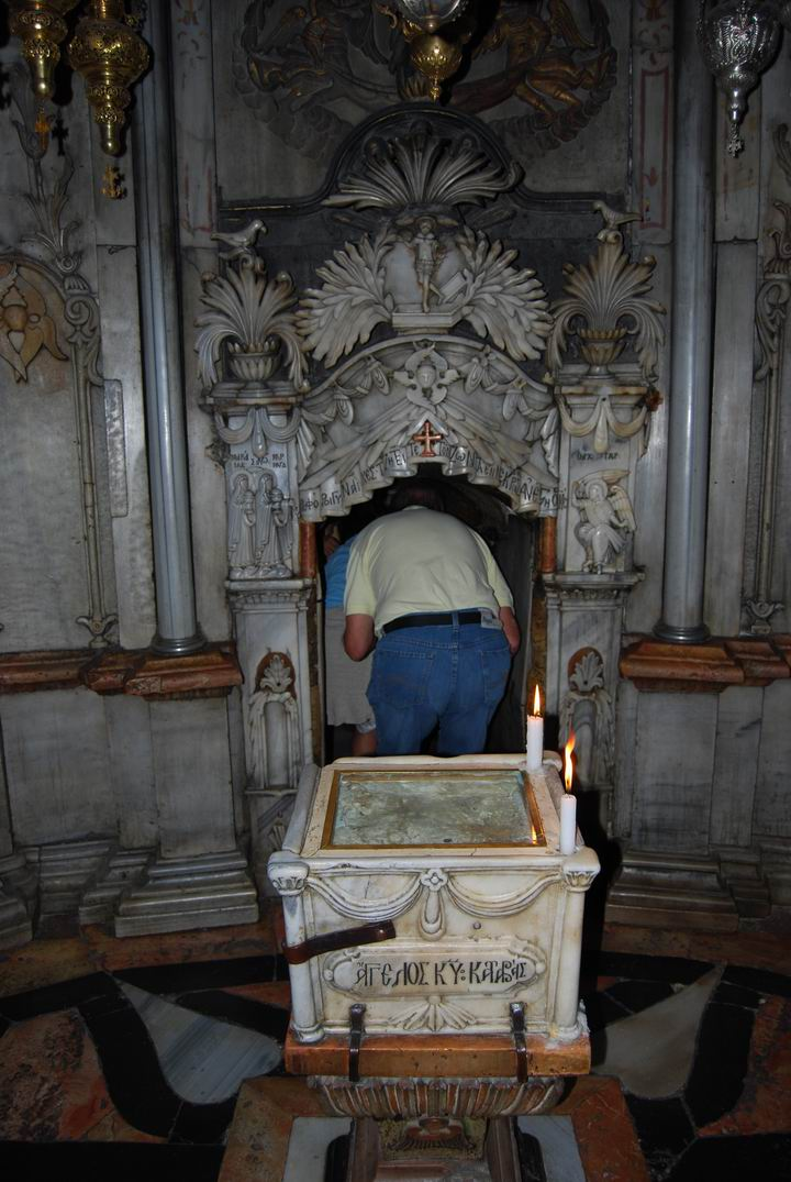 Chapel of the Angel inside the tomb of Jesus