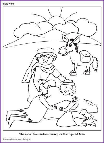 The Good Samaritan Coloring Page Printable Coloring Pages