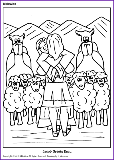 Free coloring pages of jacob's dream