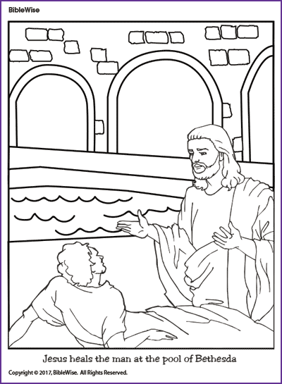 Coloring (Jesus heals the man at the pool of Bethesda