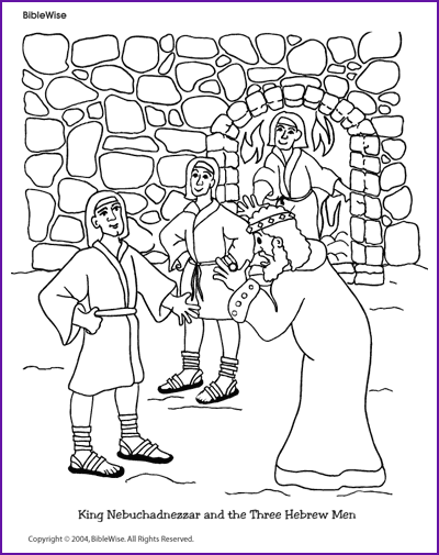 Coloring (King Nebuchadnezzar and Three Hebrew Boys