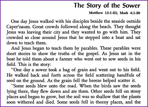 The Story Of The Sower Jesus Parable Kids Korner