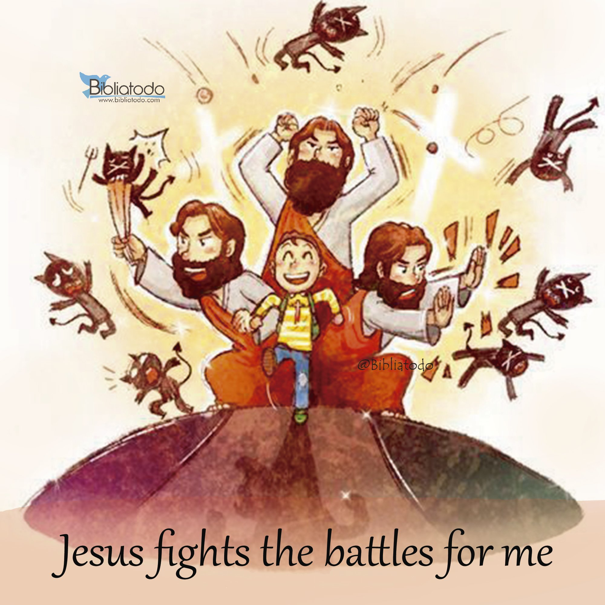 jesus fights the battles