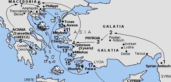 Pauls Third Journey in Which Apost Paul Met Aquila and Priscilla