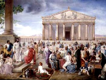 Saint Timothy and Apostle Paul at the Temple of Artemis in Ephesus