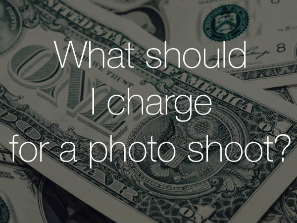 What should i charge for a photoshoot