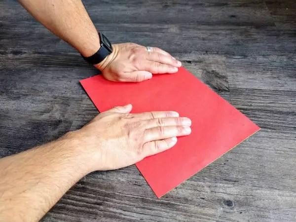 flatten paper