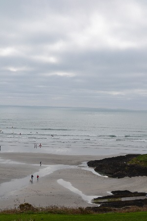 View from our balcony at Inchydoney Island Lodge, West Cork, Ireland
