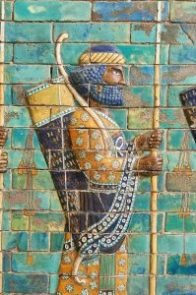 Achaemenid Royal Archers, Coloured glazed terracotta brick panels, Susa, around 510 BC © Pergamon Museum, Berlin