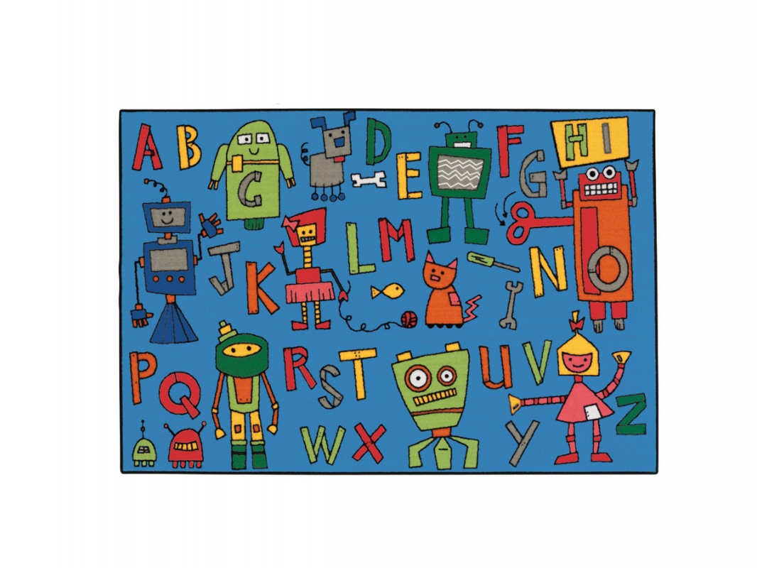 Carpets for Kids KIDS Value Rugs Reading Robots Carpet