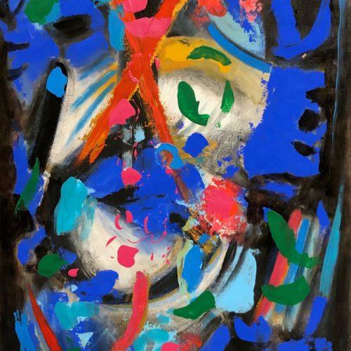 G.Monguzzi, Segni misteriosi 2 - 2010 50x70 cm