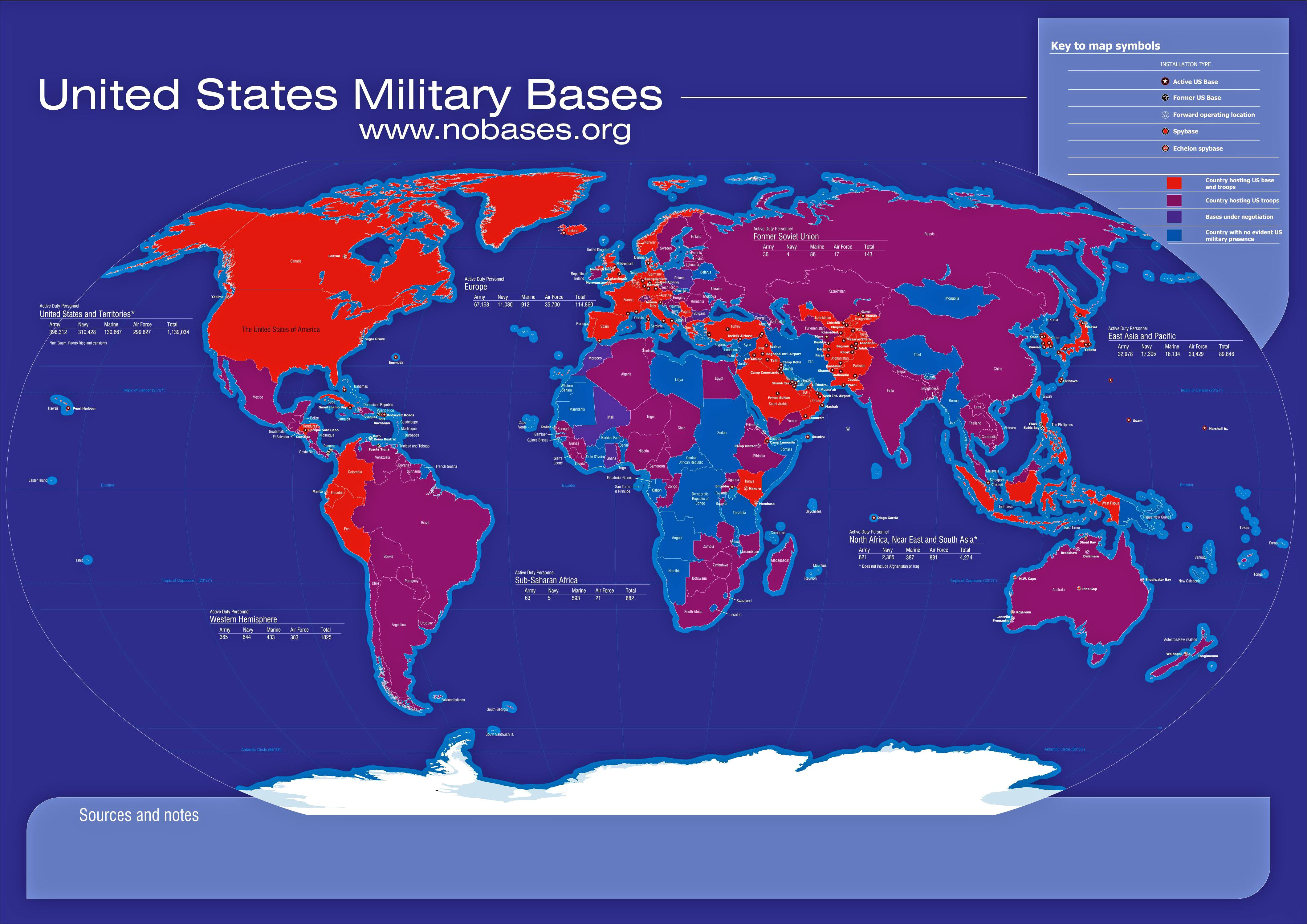 Map Of Us Military Bases In The World Afp Cv