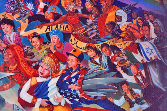 Details Of Murals In New Denver Airport