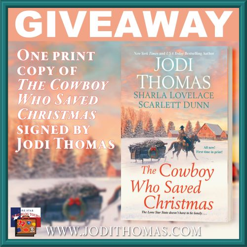 Spotlight & Giveaway: The Cowboy Who Saved Christmas by Jodi Thomas (and Sharla Lovelace & Scarlett Dunn)