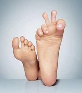 muqueuse au pied