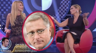 Paolo Bonolis interviene sulla litigata tra la moglie e Adriana Volpe, Sonia continua a stuzzicare la collega