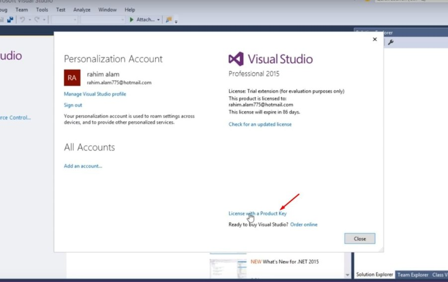 Visual Studio license key Pic 16