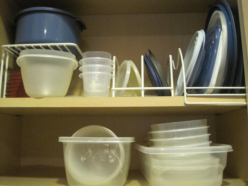 My current food storage container cabinet u2013 better than usual as I just got rid of a bunch. & Finally! A Solution for Organizing Food Storage Containers from Mr ...
