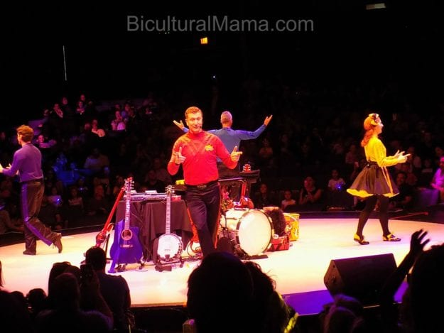 The high energy Wiggles show kept kids captivated with fun singing and dancing.