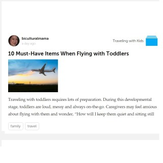 10 Must-Have Items When Flying with Toddlers: My Article on Storia