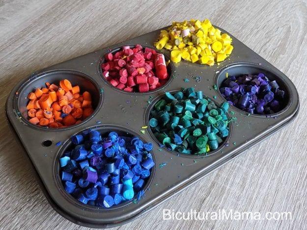 Bicultural Mama Crayon Pan Sorted
