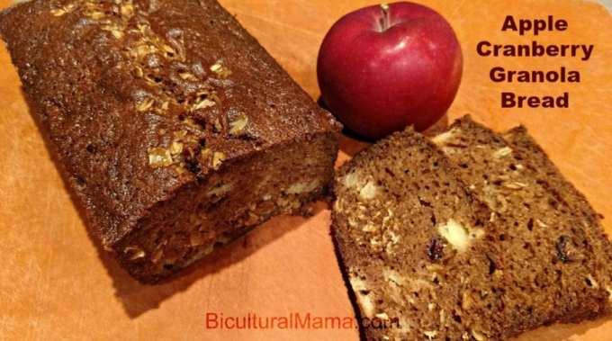 apple cranberry granola bread