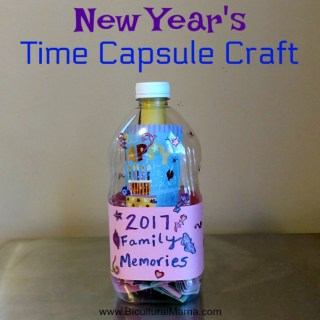 New Year's Time Capsule Craft #JuicyJuiceCrew #FamilyTime