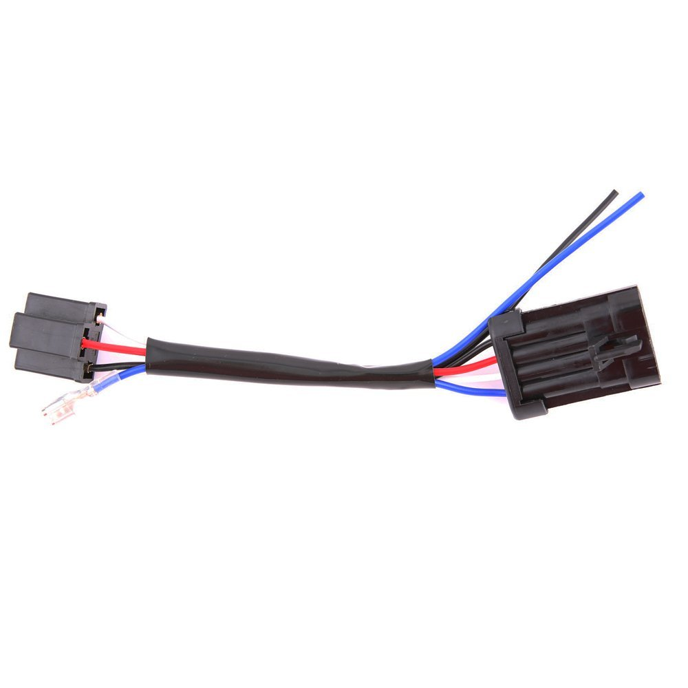 medium resolution of 5 3 4 7 inch led headlight h4 wire harness adapter for