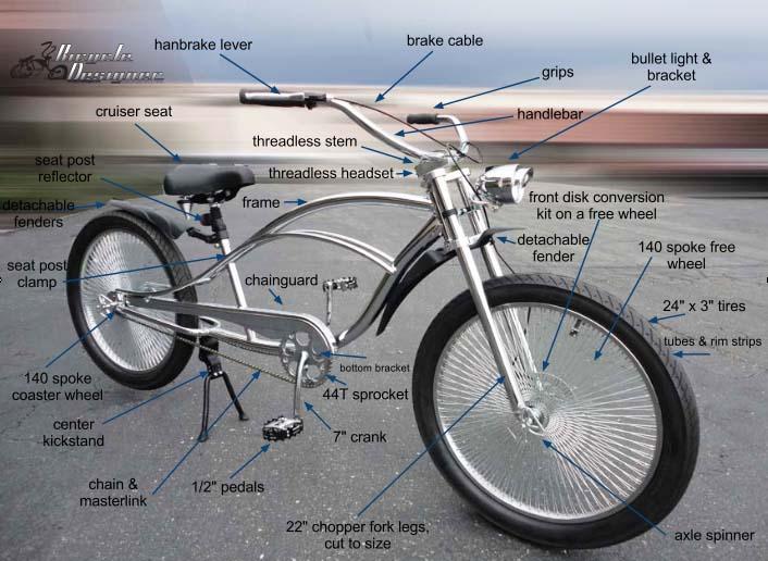 bike parts diagram 1996 chevy 1500 wiring chopper bicycle
