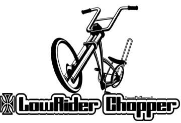 Lowrider Chopper Sticker