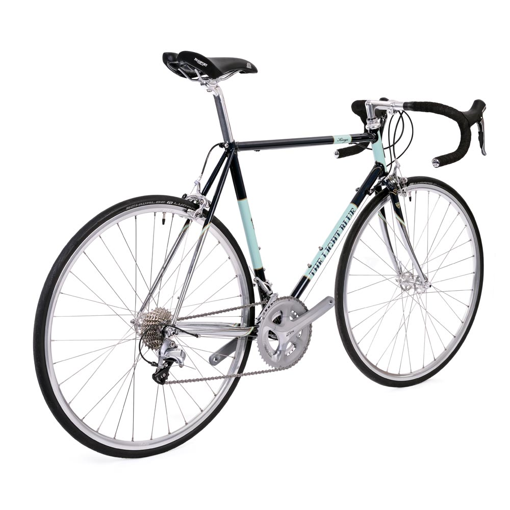 The Light Blue Kings 105 853 Steel Road Bike in Blue and
