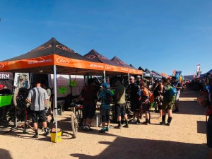 The Ibis Cycles booth was plenty popular all weekend with consumers eager to demo models.
