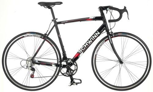 Schwinn Men's Phocus 1400 700C Drop Bar Road Bicycle, Black, 18-Inch