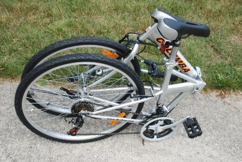 Columba 26″ Folding Bike w. Shimano 18 Speed Silver (SP26S_SLV)
