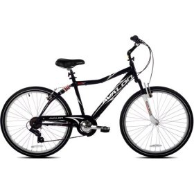 26″ Next Avalon Men's Comfort Bike with Full Suspension, Black