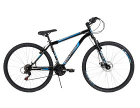 Huffy Bicycle Company Men's Front Suspension Bantam Bike, Gloss Black, 29-Inch