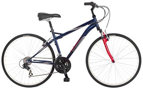Schwinn Men's S4094TR Zeno Hybrid Bike , 18″/Medium, Blue
